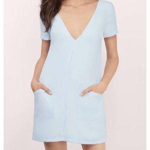 Light blue shift dress
